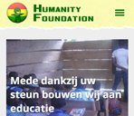 Humanity Foundation is mobiel